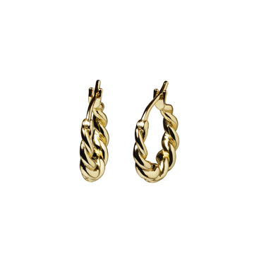 Gigi Twisted Hoops