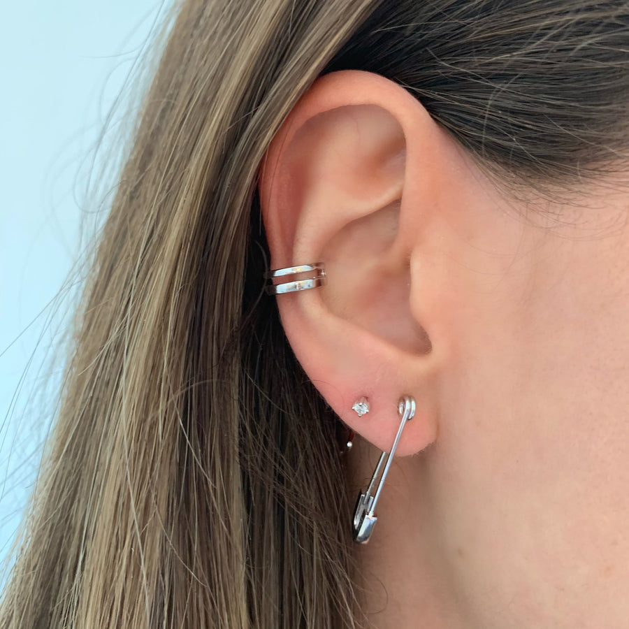 Elliott Safety Pin Earrings (Singles)