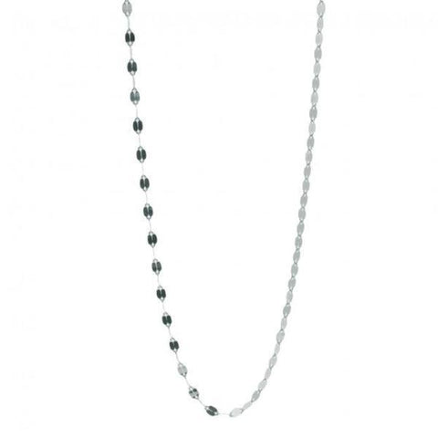 Twisted Slice Chains - chokers & short chains - silver