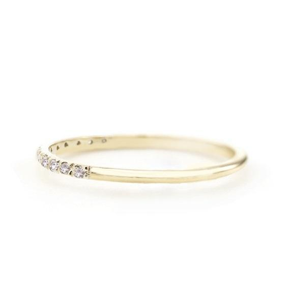 14k Gold Diamond Eternity Band - Suetables