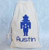 Nutcracker Soldier Christmas Personalized Drawstring Sparkle Sack