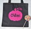 Trick or Treat Personalized Halloween SIMPLE PUMPKIN Twinkle Tote Bags