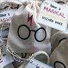 Harry Potter inspired Wizard Glittery Tiny Twinkle gift party sacks. Set of 12