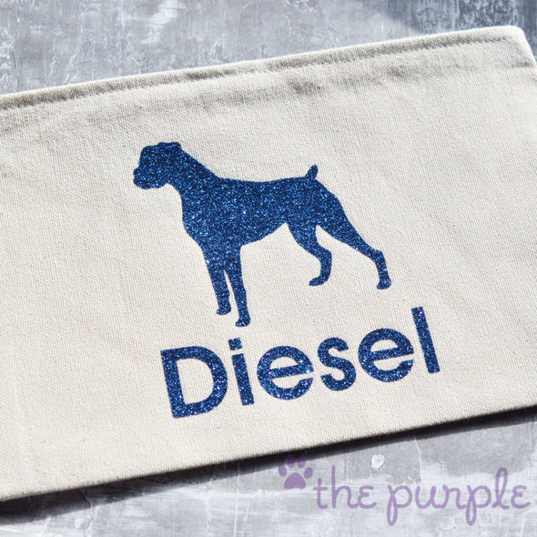 beautiful boxer handmade premium zipper pouch