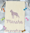 Boston Terrier Glitter personalized Sparkle Sack Gift Bags