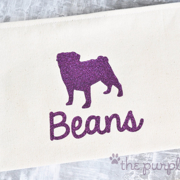 Pug Pup premium canvas personalized zipper pouch