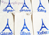 Eiffel Tower French fabulous glittery personalized Sparkle Sack Gift Bags