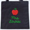 Perfect Teacher Gift~ Glitter custom RED & GREEN APPLE Twinkle Tote Bags