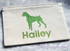 Beautiful Boxer premium canvas personalized zipper pouch