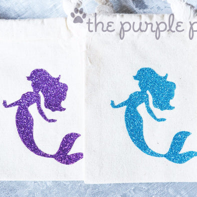 mermaid fabric muslin glitter goodie bags