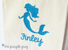 Glittery Mermaid under the sea custom Twinkle Tote Bag