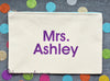 Personalized Teacher Gift zipper pouches