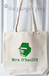 Holiday Teacher Gift~ Glitter custom school BOOKS Personalized Tote Bags