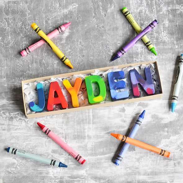 Personalized Name Crazy Colorful Crayon Gift Sets