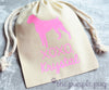 Boxer Glitter personalized Sparkle Sack Gift Bags