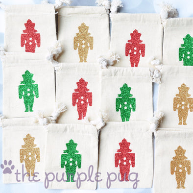 glittery nutcracker ballet holiday party favor sacks