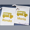 school bus driver personalized gift bag sack
