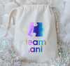 Autism Awareness Puzzle Piece personalized Sparkle Sack Gift Bags