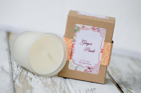 Ginger Peach Soy Candle