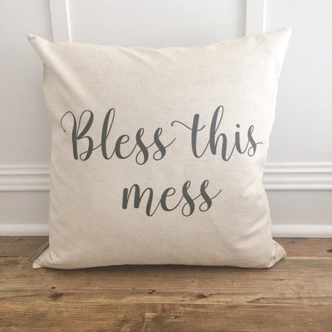 Bless This Mess Pillow Cover