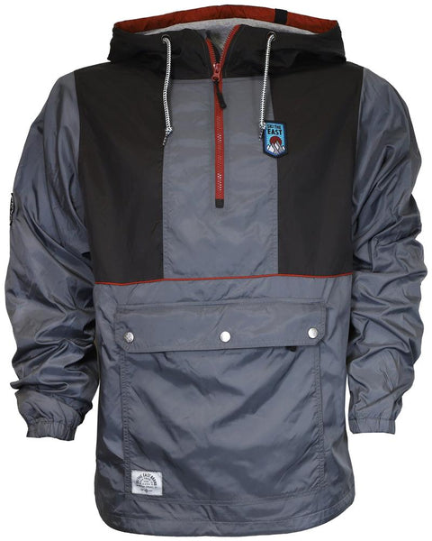 Ski The East Men's Gale Force Half Zip Windbreaker