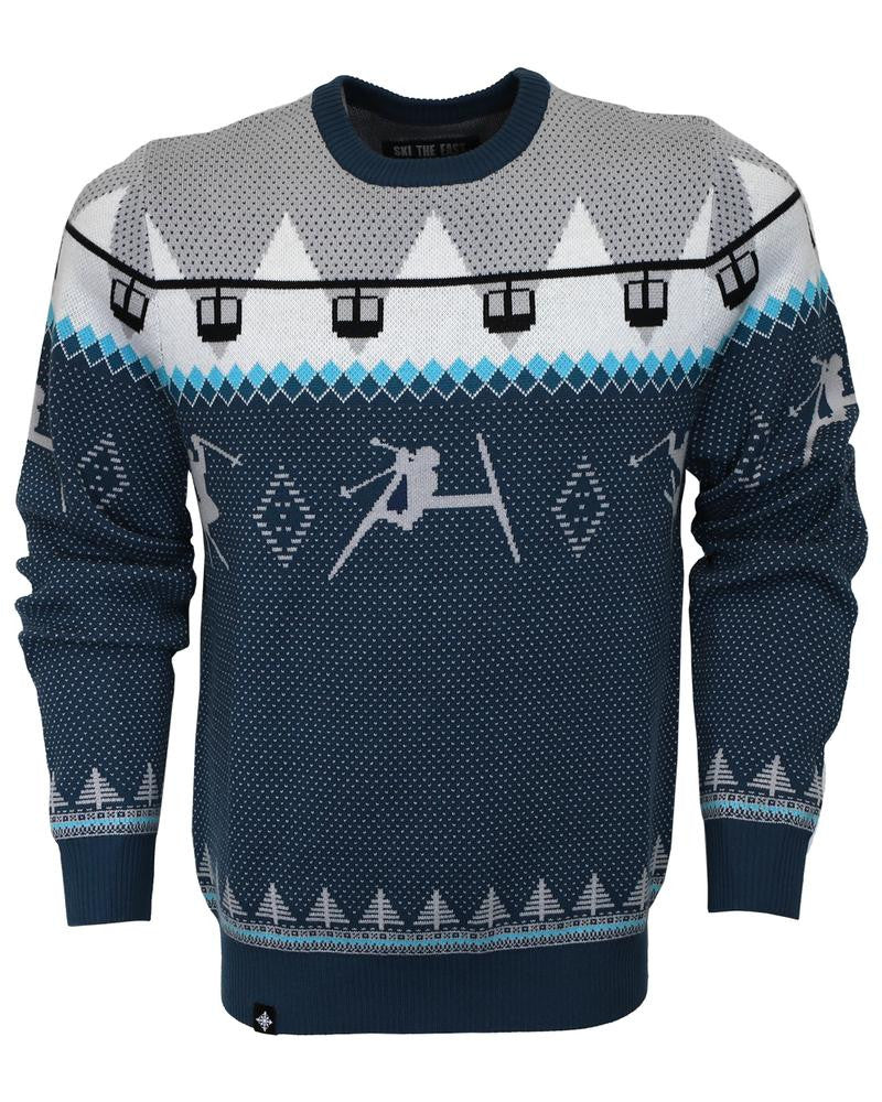 Ski The East Men's Double Diamond Shredder Sweater