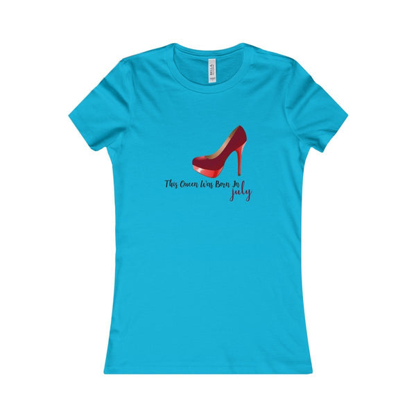 This Queen Was Born in July Women's Favorite Birthday Tee - Lose A Pound Daily