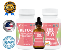 Keto 5 Body Snap Back Bundle with FREE Keto Drops ($32.97 Value)