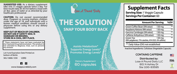 The Solution- Snap Your Body Back - Lose A Pound Daily