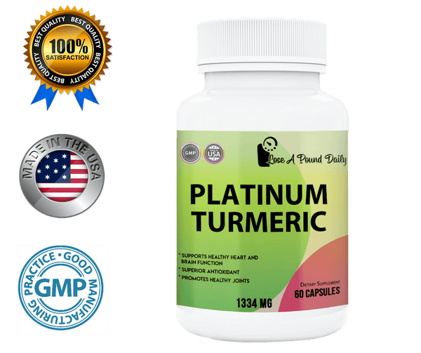 Platinum Turmeric with BioPerine, 60 Capsules - Lose A Pound Daily
