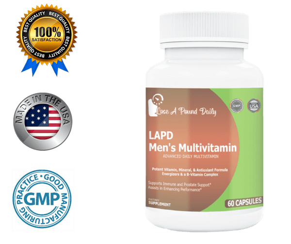 LAPD Men's Multivitamin- Complete, 60 Capsules - Lose A Pound Daily