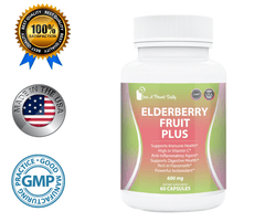 Elderberry Fruit Plus, 600mg Capsules