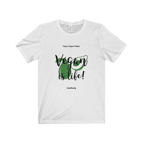 Vegan Is Life Unisex Jersey Short Sleeve Tee