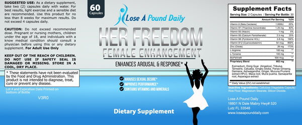 Her Freedom Female Enhancement Solution - Lose A Pound Daily