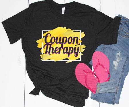 Coupon Therapy Cool and Funny Womens Tee - Lose A Pound Daily