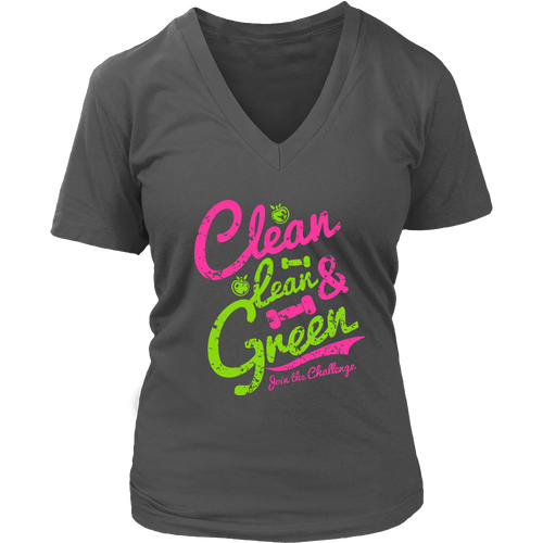 Clean, Lean & Green V-Neck Tee