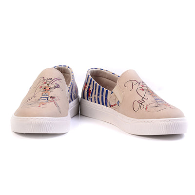 Blue Stripe Sneakers 'Slip-on Sneaker' with Memory Foam Shoes Goby - Pimpos Australia