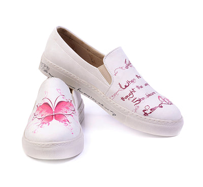 Sneakers Pink Butterfly 'Slip-on Sneaker' with Memory Foam Shoes Goby - Pimpos Australia