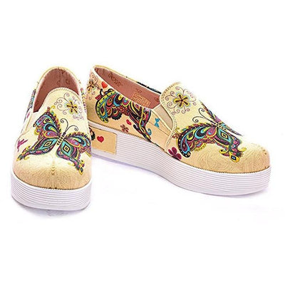 ''Ivory Butterfly Platform Slip-On Sneaker'' Shoes Women Shoes Goby - Pimpos Australia