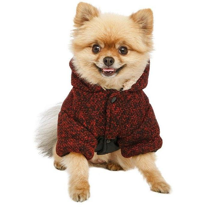 Cheviot Tweed Trimmed Parka Dog Clothing Urban Pup - Pimpos Australia