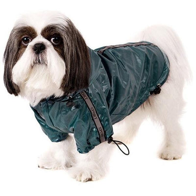 Teal Blue Fleece-Lined Raincoat Dog Clothing Urban Pup - Pimpos Australia