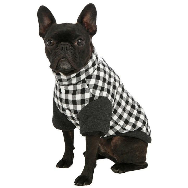 Dog Clothing - Two Tone Checked Coat - Coming Soon!