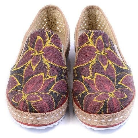 Purple Yellow Floral Espadrille Slip On