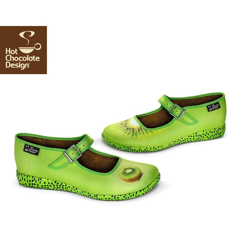 Kiwi Hot Chocolate Design Flats