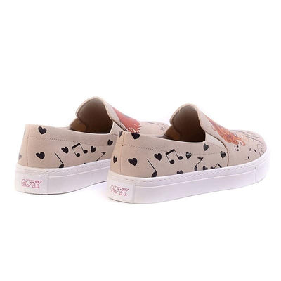 """Music Girl Slip-On Sneaker"" with Memory Foam Shoes Women Shoes Goby - Pimpos Australia"