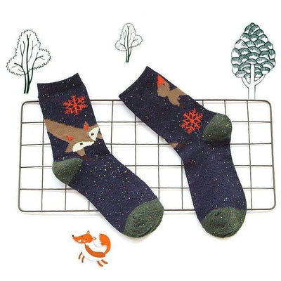 Foxy Foxy Cute Women Wool Socks Women Socks Pimpos Australia - Pimpos Australia