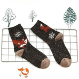 Foxy Foxy Cute Women Wool Socks