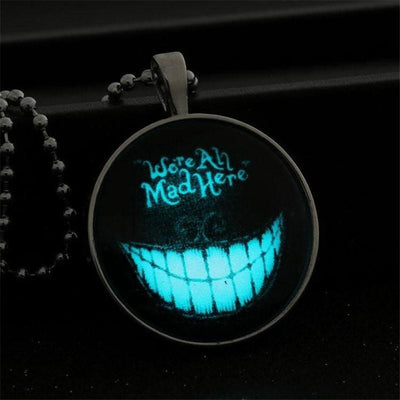 Glass Halloween Glowing Necklace Pimpos Accessories Pimpos Australia - Pimpos Australia