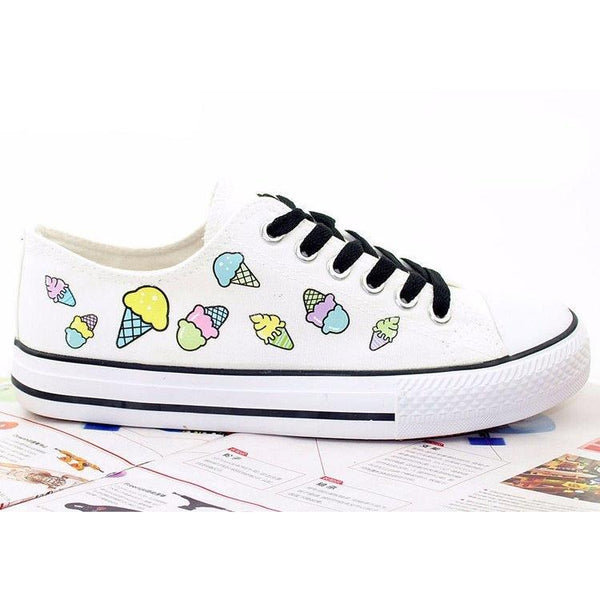 """The Ice Cream Cuties"" Canvas Shoes Pimpos Women Footwear Pimpos Australia - Pimpos Australia"