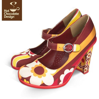 1970 Heels Shoes Hot Chocolate Design - Pimpos Australia